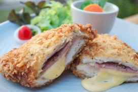 Chicken Steak Stuffed with Ham Cheese