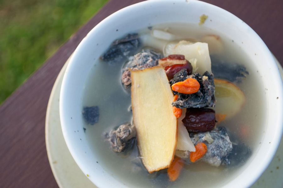 Chinese Black Chicken Soup