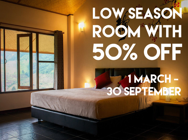 Low Season discount to 50%